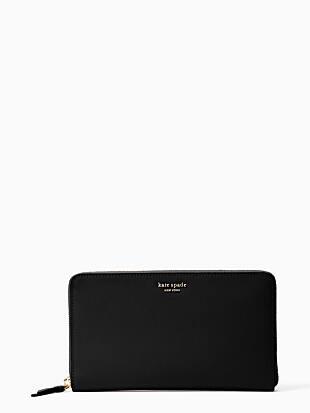 케이트 스페이드 Kate Spade cameron large travel wallet,BLACK