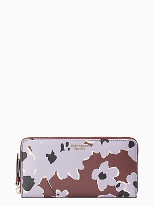 cameron floral bouquet large continental wallet by kate spade new york non-hover view
