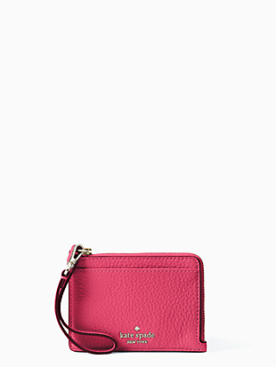 케이트 스페이드 Kate Spade jackson small card holder wristlet,BRIGHT MAGENTA