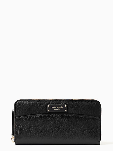 jeanne large continental wallet, Black, large by kate spade new york