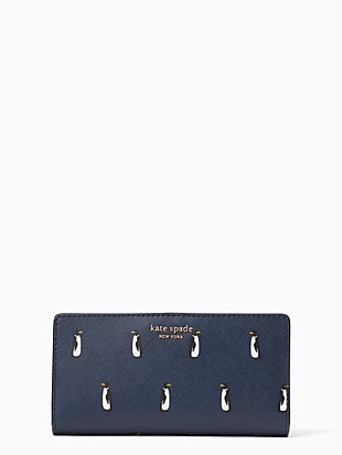 cameron penguin large slim bifold wallet by kate spade new york non-hover view