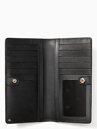 cameron penguin large slim bifold wallet by kate spade new york hover view