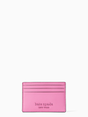 cameron monotone small slim card holder by kate spade new york non-hover view
