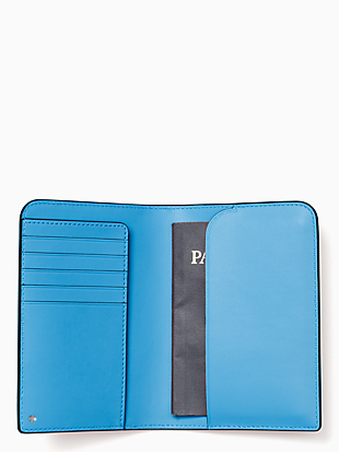 cameron monotone passport holder by kate spade new york hover view
