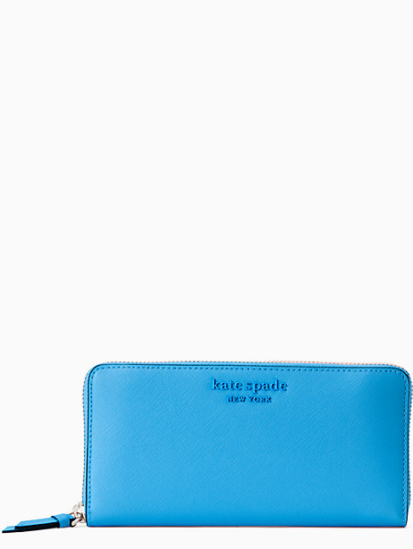 cameron monotone large continental wallet, oceanside, large by kate spade new york