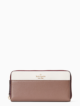 케이트 스페이드 Kate Spade jackson colorblock large continental wallet,NEUTRAL MULTI