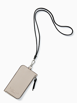 cameron card case lanyard by kate spade new york non-hover view