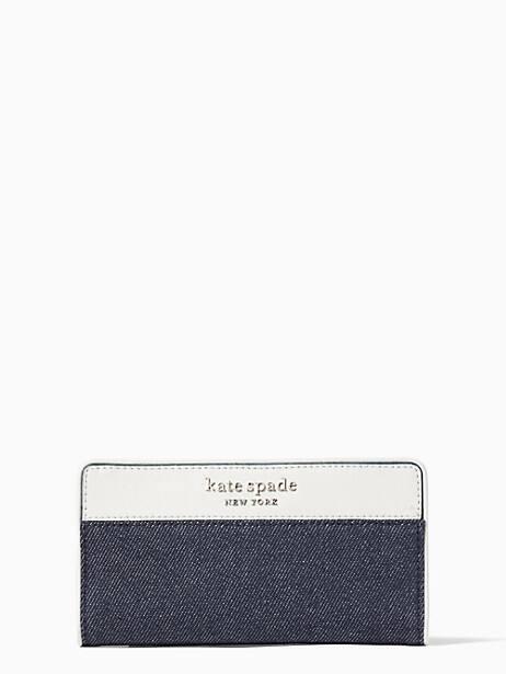 cameron denim colorblock large slim bifold wallet by kate spade new york