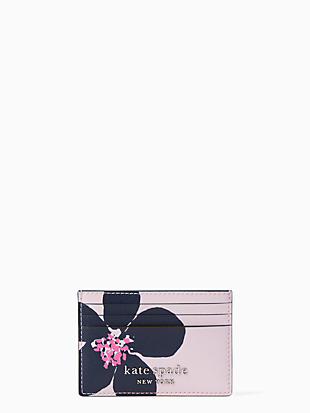 cameron grand flora small slim card holder by kate spade new york non-hover view