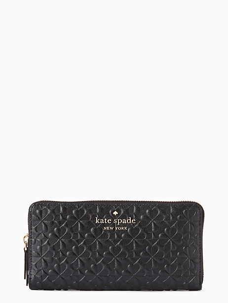 hollie spade clover geo embossed large continental wallet by kate spade new york