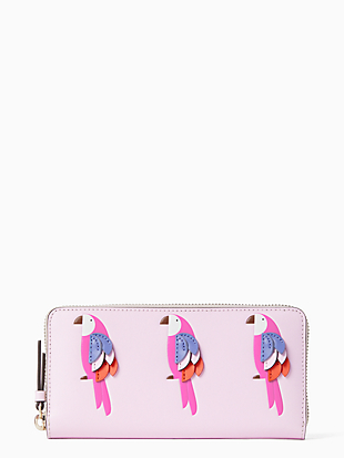 케이트 스페이드 Kate Spade flock party large continental wallet,MULTI