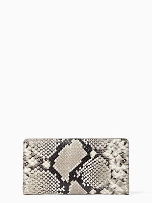 케이트 스페이드 Kate Spade eva exotic large slim bifold wallet,NEUTRAL MULTI