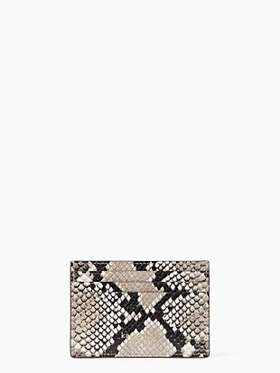 케이트 스페이드 Kate Spade eva exotic small slim card holder,NEUTRAL MULTI