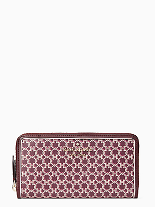 spade link large continental wallet by kate spade new york non-hover view