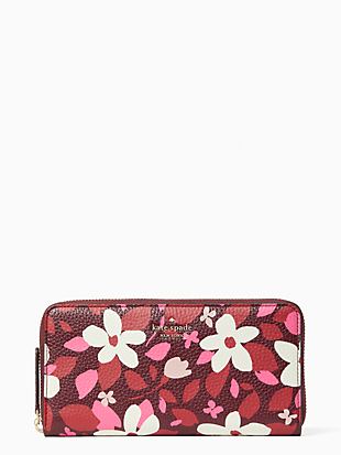 케이트 스페이드 Kate Spade jackson forest floral large continental wallet,PINK MULTI