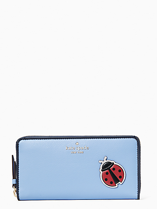 케이트 스페이드 Kate Spade enchanted forest lady bug large continental wallet,MULTI