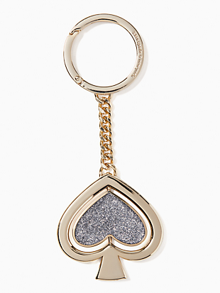 key fobs spade glitter swivel charm by kate spade new york hover view