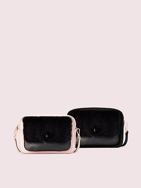 make it mine camera bag and faux fur pouch, , large