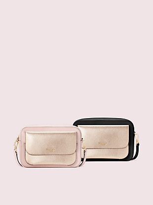 make it mine camera bag and metallic pouch by kate spade new york non-hover view